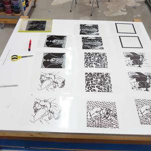 Image 5 - At Work on paper Shakti-Yoni-2018, JP Sergent