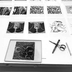 Image 6 - At Work on paper Shakti-Yoni-2018, JP Sergent