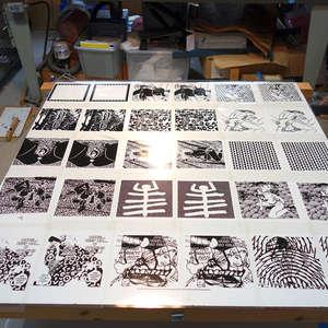Image 41 - At Work on paper Shakti-Yoni-2018, JP Sergent