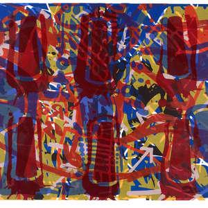 Image 102 - Half Paper 1997/2003,  monoprint, acrylic silkscreened on BFK Rives paper, 61 x 107 cm., JP Sergent