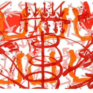 Image 62 - Half Paper 1997/2003,  monoprint, acrylic silkscreened on BFK Rives paper, 61 x 107 cm., JP Sergent