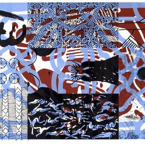Image 63 - Half Paper 1997/2003,  monoprint, acrylic silkscreened on BFK Rives paper, 61 x 107 cm., JP Sergent