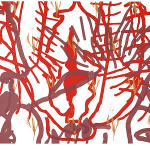 Image 61 - Half Paper 1997/2003,  monoprint, acrylic silkscreened on BFK Rives paper, 61 x 107 cm., JP Sergent