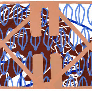 Image 59 - Half Paper 1997/2003,  monoprint, acrylic silkscreened on BFK Rives paper, 61 x 107 cm., JP Sergent