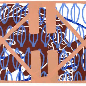 Image 57 - Half Paper 1997/2003,  monoprint, acrylic silkscreened on BFK Rives paper, 61 x 107 cm., JP Sergent