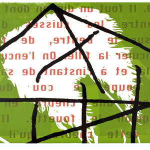 Image 58 - Half Paper 1997/2003,  monoprint, acrylic silkscreened on BFK Rives paper, 61 x 107 cm., JP Sergent