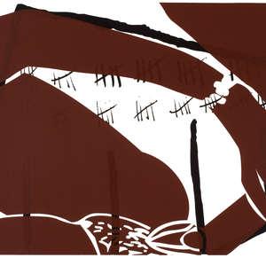 Image 49 - Half Paper 1997/2003,  monoprint, acrylic silkscreened on BFK Rives paper, 61 x 107 cm., JP Sergent