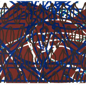 Image 47 - Half Paper 1997/2003,  monoprint, acrylic silkscreened on BFK Rives paper, 61 x 107 cm., JP Sergent