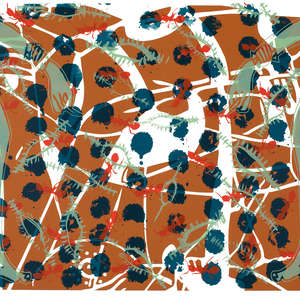 Image 65 - Half Paper 1997/2003,  monoprint, acrylic silkscreened on BFK Rives paper, 61 x 107 cm., JP Sergent