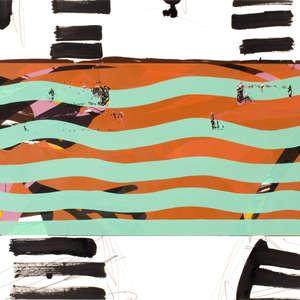 Image 99 - Half Paper 1997/2003,  monoprint, acrylic silkscreened on BFK Rives paper, 61 x 107 cm., JP Sergent