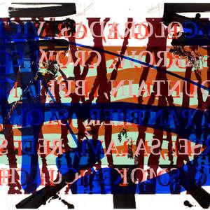 Image 60 - Half Paper 1997/2003,  monoprint, acrylic silkscreened on BFK Rives paper, 61 x 107 cm., JP Sergent