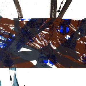 Image 51 - Half Paper 1997/2003,  monoprint, acrylic silkscreened on BFK Rives paper, 61 x 107 cm., JP Sergent