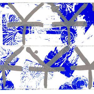 Image 54 - Half Paper 1997/2003,  monoprint, acrylic silkscreened on BFK Rives paper, 61 x 107 cm., JP Sergent