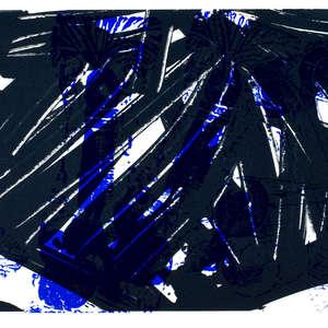 Image 55 - Half Paper 1997/2003,  monoprint, acrylic silkscreened on BFK Rives paper, 61 x 107 cm., JP Sergent