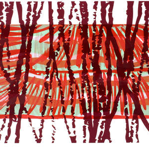 Image 46 - Half Paper 1997/2003,  monoprint, acrylic silkscreened on BFK Rives paper, 61 x 107 cm., JP Sergent