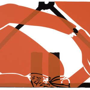Image 45 - Half Paper 1997/2003,  monoprint, acrylic silkscreened on BFK Rives paper, 61 x 107 cm., JP Sergent