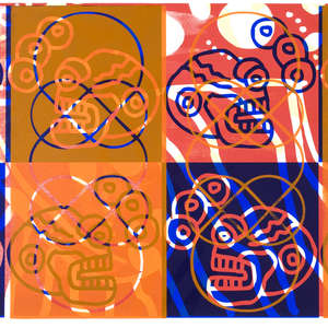 Image 44 - Half Paper 1997/2003,  monoprint, acrylic silkscreened on BFK Rives paper, 61 x 107 cm., JP Sergent