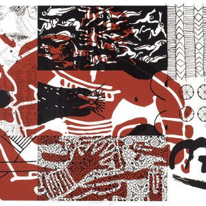 Image 43 - Half Paper 1997/2003,  monoprint, acrylic silkscreened on BFK Rives paper, 61 x 107 cm., JP Sergent