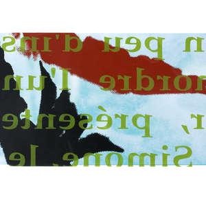 Image 97 - Half Paper 1997/2003,  monoprint, acrylic silkscreened on BFK Rives paper, 61 x 107 cm., JP Sergent