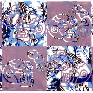 Image 39 - Half Paper 1997/2003,  monoprint, acrylic silkscreened on BFK Rives paper, 61 x 107 cm., JP Sergent