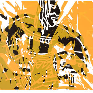 Image 14 - Half Paper 1997/2003,  monoprint, acrylic silkscreened on BFK Rives paper, 61 x 107 cm., JP Sergent