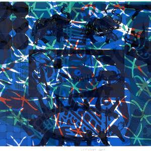 Image 13 - Half Paper 1997/2003,  monoprint, acrylic silkscreened on BFK Rives paper, 61 x 107 cm., JP Sergent