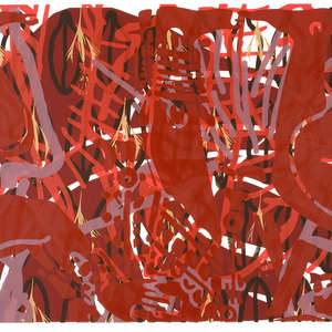 Image 11 - Half Paper 1997/2003,  monoprint, acrylic silkscreened on BFK Rives paper, 61 x 107 cm., JP Sergent