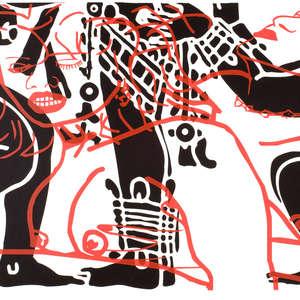 Image 10 - Half Paper 1997/2003,  monoprint, acrylic silkscreened on BFK Rives paper, 61 x 107 cm., JP Sergent