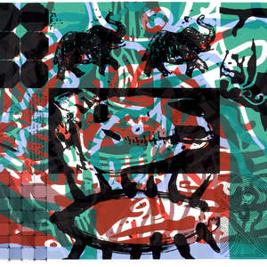 Image 8 - Half Paper 1997/2003,  monoprint, acrylic silkscreened on BFK Rives paper, 61 x 107 cm., JP Sergent