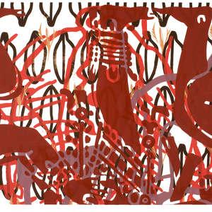 Image 41 - Half Paper 1997/2003,  monoprint, acrylic silkscreened on BFK Rives paper, 61 x 107 cm., JP Sergent