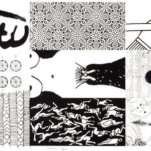 Image 24 - Half Paper 1997/2003,  monoprint, acrylic silkscreened on BFK Rives paper, 61 x 107 cm., JP Sergent
