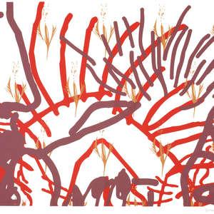 Image 23 - Half Paper 1997/2003,  monoprint, acrylic silkscreened on BFK Rives paper, 61 x 107 cm., JP Sergent