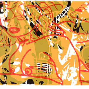 Image 20 - Half Paper 1997/2003,  monoprint, acrylic silkscreened on BFK Rives paper, 61 x 107 cm., JP Sergent