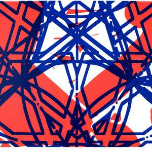Image 37 - Half Paper 1997/2003,  monoprint, acrylic silkscreened on BFK Rives paper, 61 x 107 cm., JP Sergent