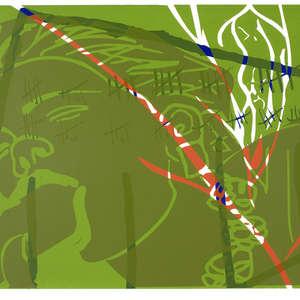 Image 36 - Half Paper 1997/2003,  monoprint, acrylic silkscreened on BFK Rives paper, 61 x 107 cm., JP Sergent