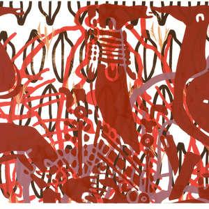 Image 32 - Half Paper 1997/2003,  monoprint, acrylic silkscreened on BFK Rives paper, 61 x 107 cm., JP Sergent