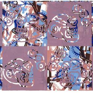 Image 30 - Half Paper 1997/2003,  monoprint, acrylic silkscreened on BFK Rives paper, 61 x 107 cm., JP Sergent