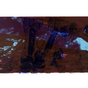 Image 77 - Half Paper 1997/2003,  monoprint, acrylic silkscreened on BFK Rives paper, 61 x 107 cm., JP Sergent
