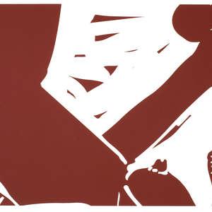 Image 17 - Half Paper 1997/2003,  monoprint, acrylic silkscreened on BFK Rives paper, 61 x 107 cm., JP Sergent