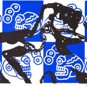 Image 16 - Half Paper 1997/2003,  monoprint, acrylic silkscreened on BFK Rives paper, 61 x 107 cm., JP Sergent