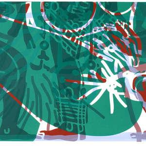 Image 6 - Half Paper 1997/2003,  monoprint, acrylic silkscreened on BFK Rives paper, 61 x 107 cm., JP Sergent
