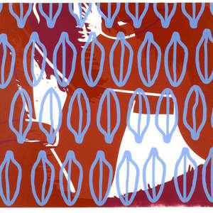 Image 1 - Half Paper 1997/2003,  monoprint, acrylic silkscreened on BFK Rives paper, 61 x 107 cm., JP Sergent
