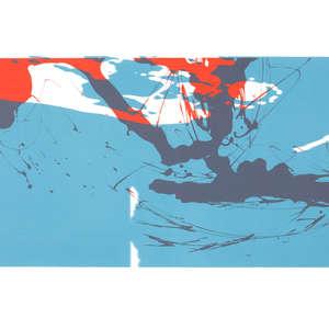 Image 72 - Half Paper 1997/2003,  monoprint, acrylic silkscreened on BFK Rives paper, 61 x 107 cm., JP Sergent