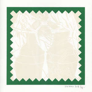 Image 427 - Small Paper-Shakti-Yoni-2018-White-BFK-Rives, JP Sergent