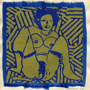Image 160 - Small Paper-Shakti-Yoni-2018 |Yellow Wang Paper, JP Sergent
