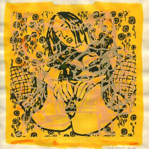 Image 88 - Small Paper-Shakti-Yoni-2018 |Yellow Wang Paper, JP Sergent