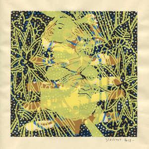 Image 344 - Small Paper-Shakti-Yoni-2018 |Yellow Wang Paper, JP Sergent