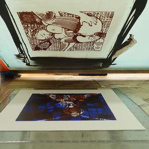 Image 175 - At Work on paper Shakti-Yoni-3-2017, JP Sergent