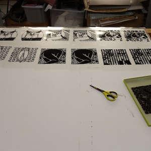 Image 225 - At Work on paper Shakti-Yoni-3-2017, JP Sergent
