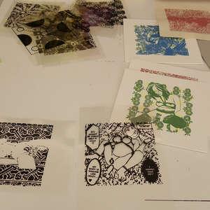 Image 193 - At Work on paper Shakti-Yoni-3-2017, JP Sergent